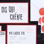 Design Dis Oui Hochzeit Papeterie Typografie Stempel alle