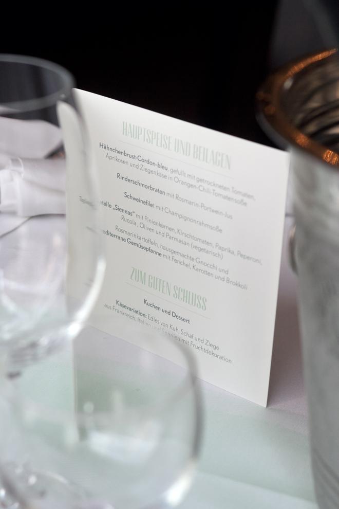 Design Hand in Hand Hochzeit konfettirausch Speisekarte Tischdekoration