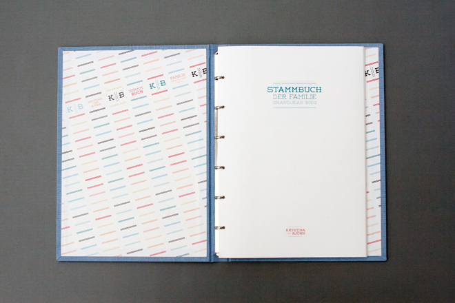 Hochzeitspapeterie von Konfettirausch: individuelles Stammbuch