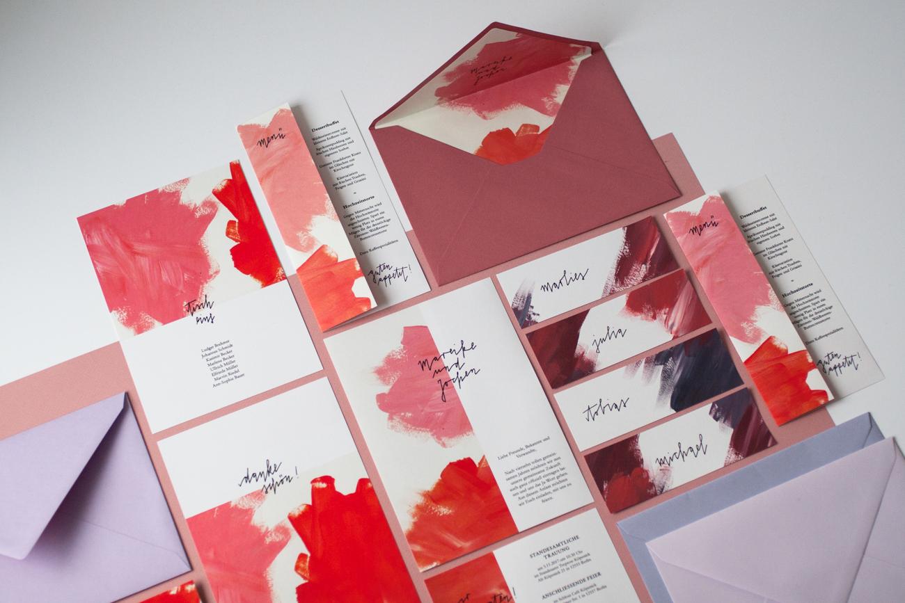 Design Famos Pastos Hochzeit Papeterie Set