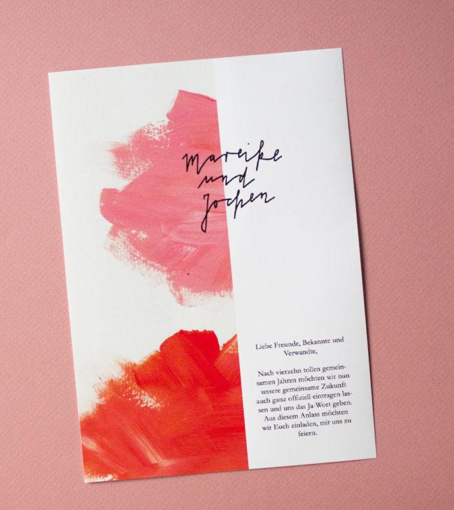 Kalligrafie Einladungen Papeterie Set Hochzeit