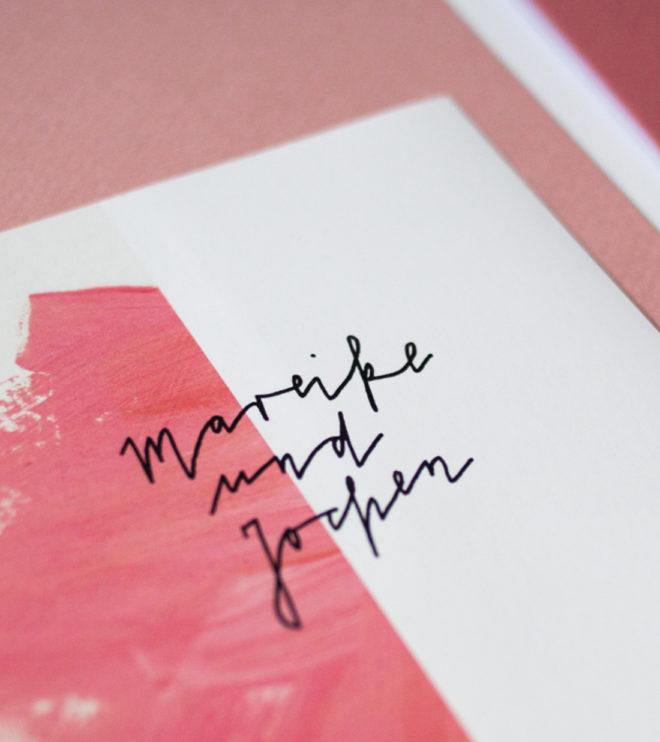 Kalligrafie Einladungen Papeterie Set Hochzeitslogo