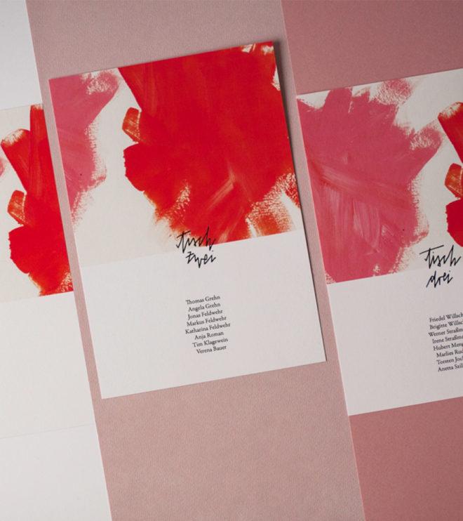 Tischkarten zum Selbstausdruck Hochzeit Papeterie Beispiel