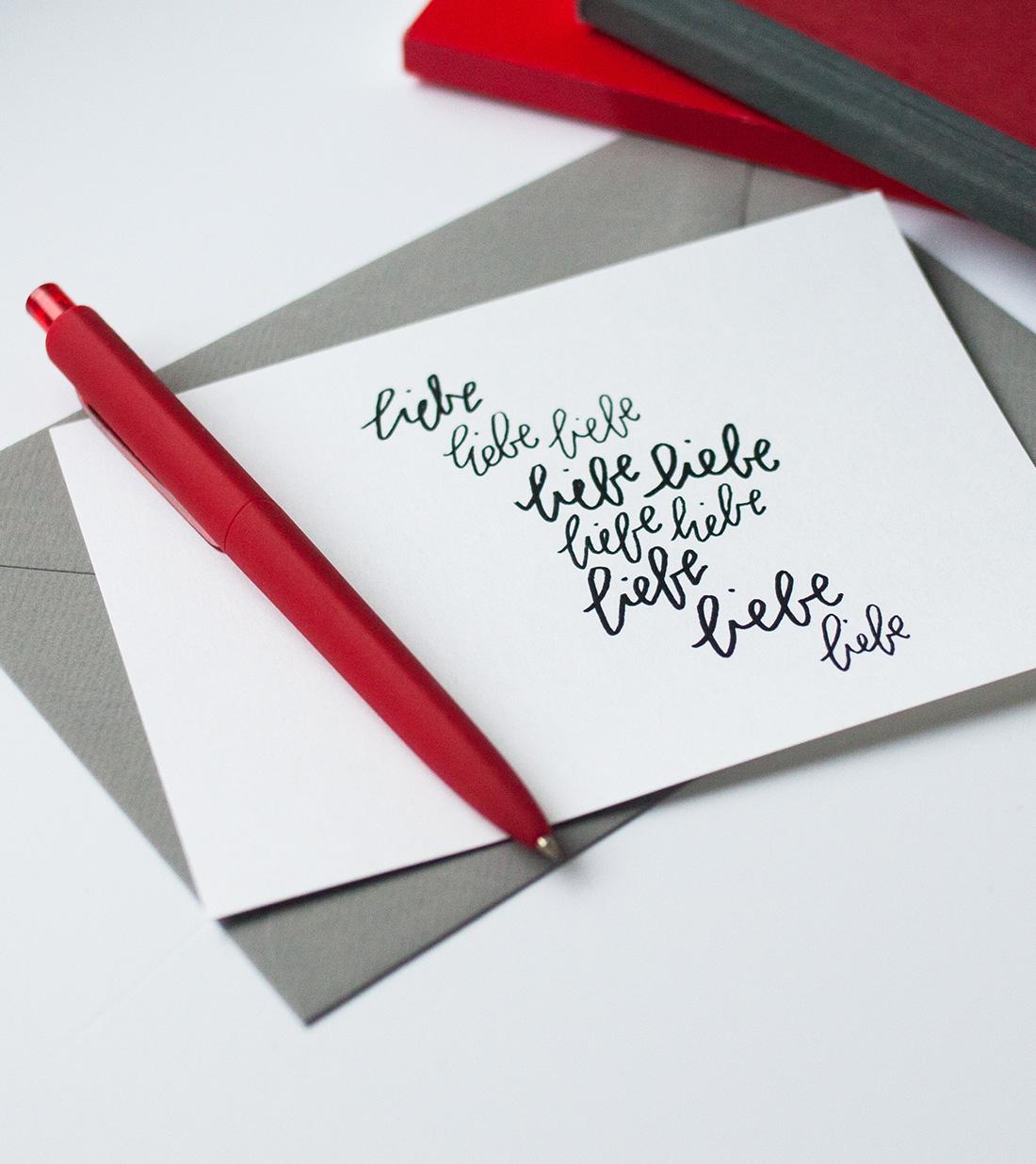 Valentinstag Karte im Handletterig Stil zum Ausdrucken: Fünf moderne ...