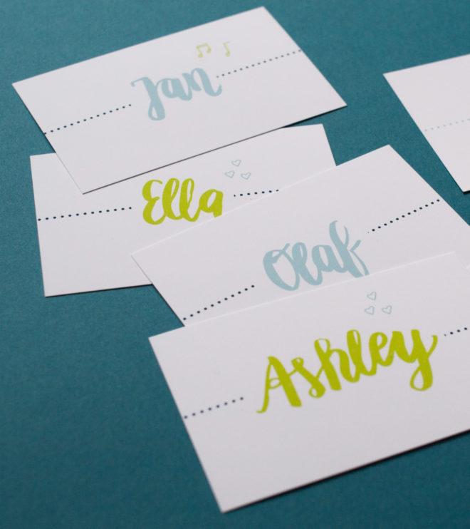 Schöne Namenskarten