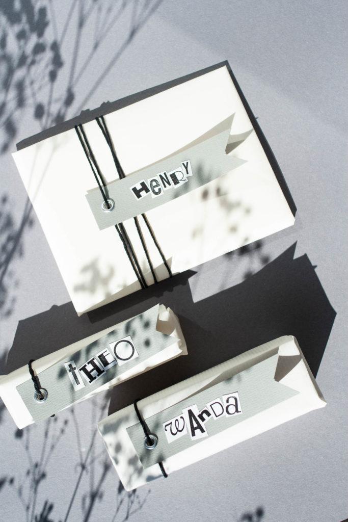 Geschenkanhänger selbst machen und schön verpacken