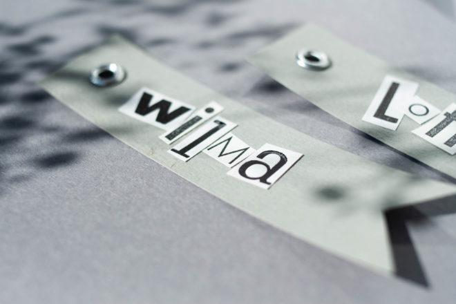 Geschenkanhänger selbst machen Detail Letterpress Buchstaben