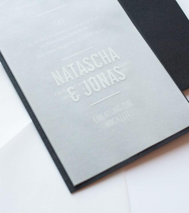 Minimalistische Einladungskarte reduziertes Design