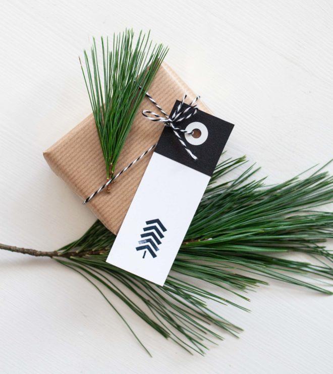 DIY Printable Vorlage Geschenkanhänger für Weihnachten
