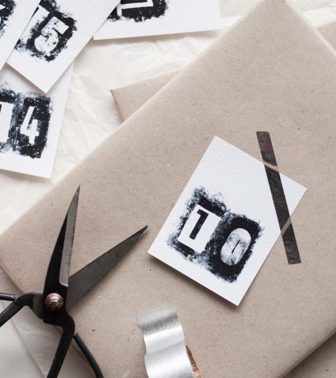 DIY Adventskalender Zahlen als kostenloses Printable