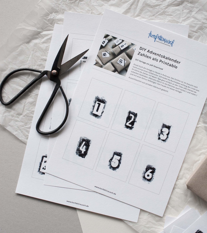 Diy Adventskalender Zahlen Als Kostenloses Printable Zum Ausdrucken