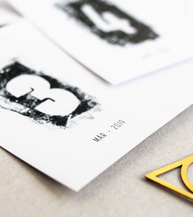 Schwarz-weiss Kalender Printable minimalistisch
