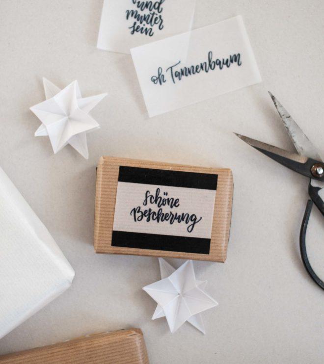 Handlettering für Weihnachtsgeschenke als Printable