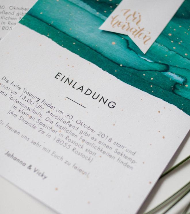 Einladungskarte mit Aquarell