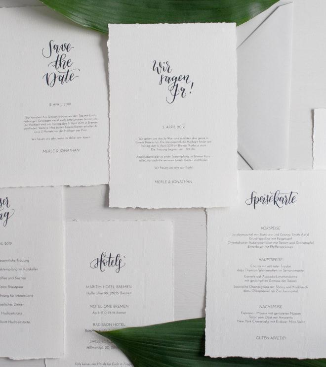DIY Papeterie Set Hochzeit Einladungen