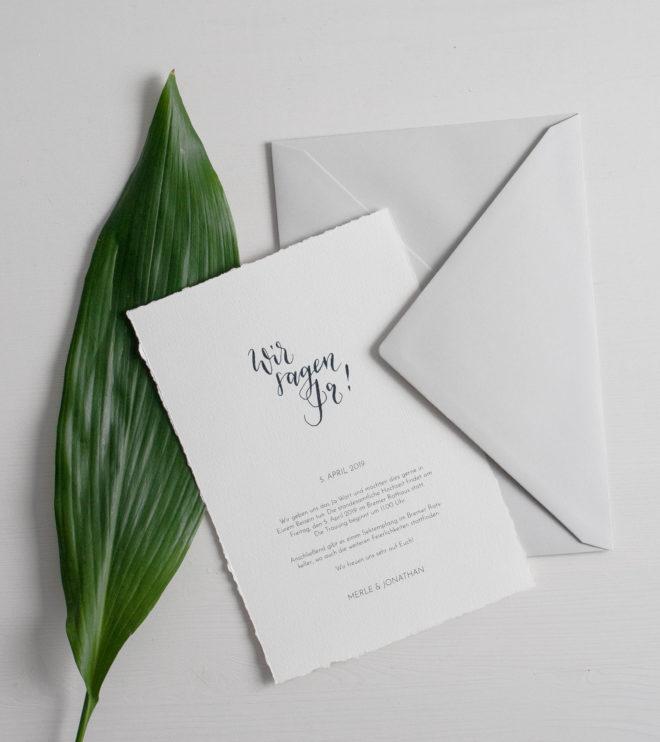 DIY Papeterie Set Einladung elegant Hochzeit