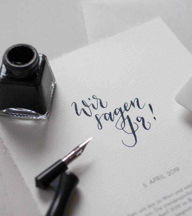 DIY Papeterie Set Kalligrafie Hochzeit
