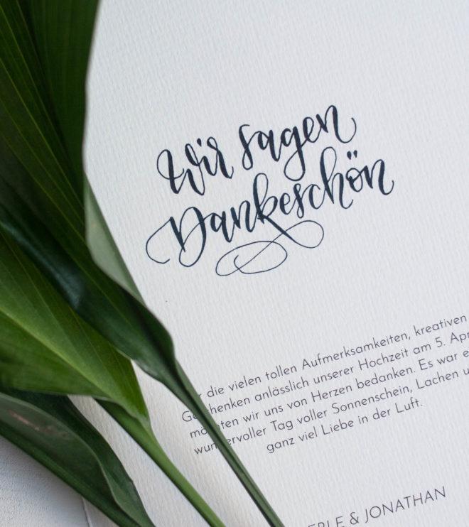 DIY Papeterie Set Hochzeit Wir sagen Danke