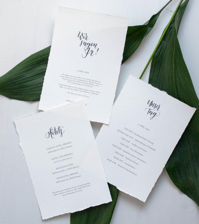 DIY Papeterie Set Hochzeit selber machen