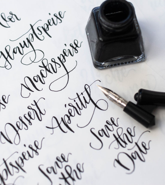 DIY Papeterie Kalligrafie handgeschrieben