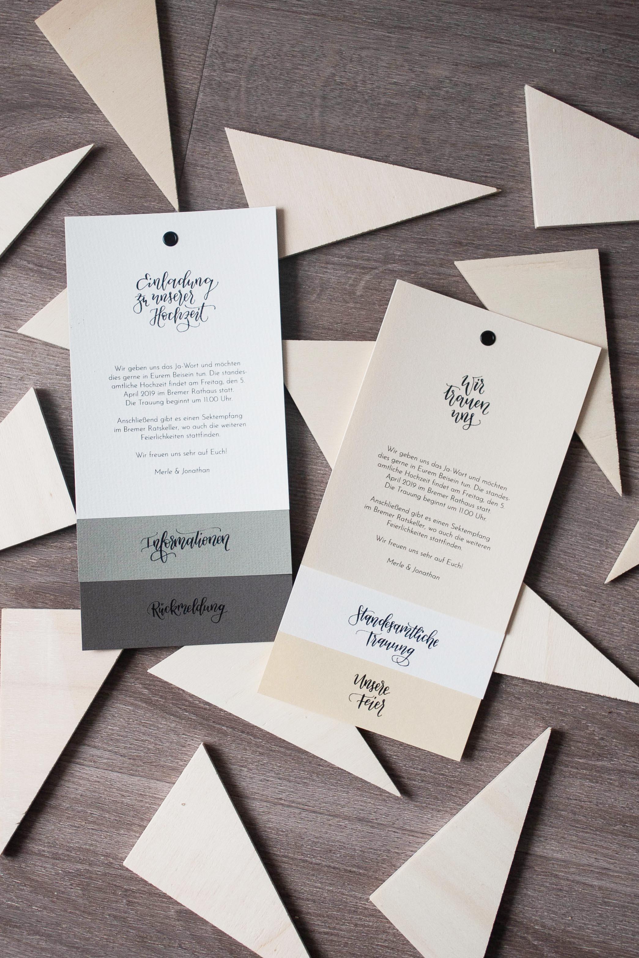 Hochzeitspapeterie selbst machen: viele Designs möglich