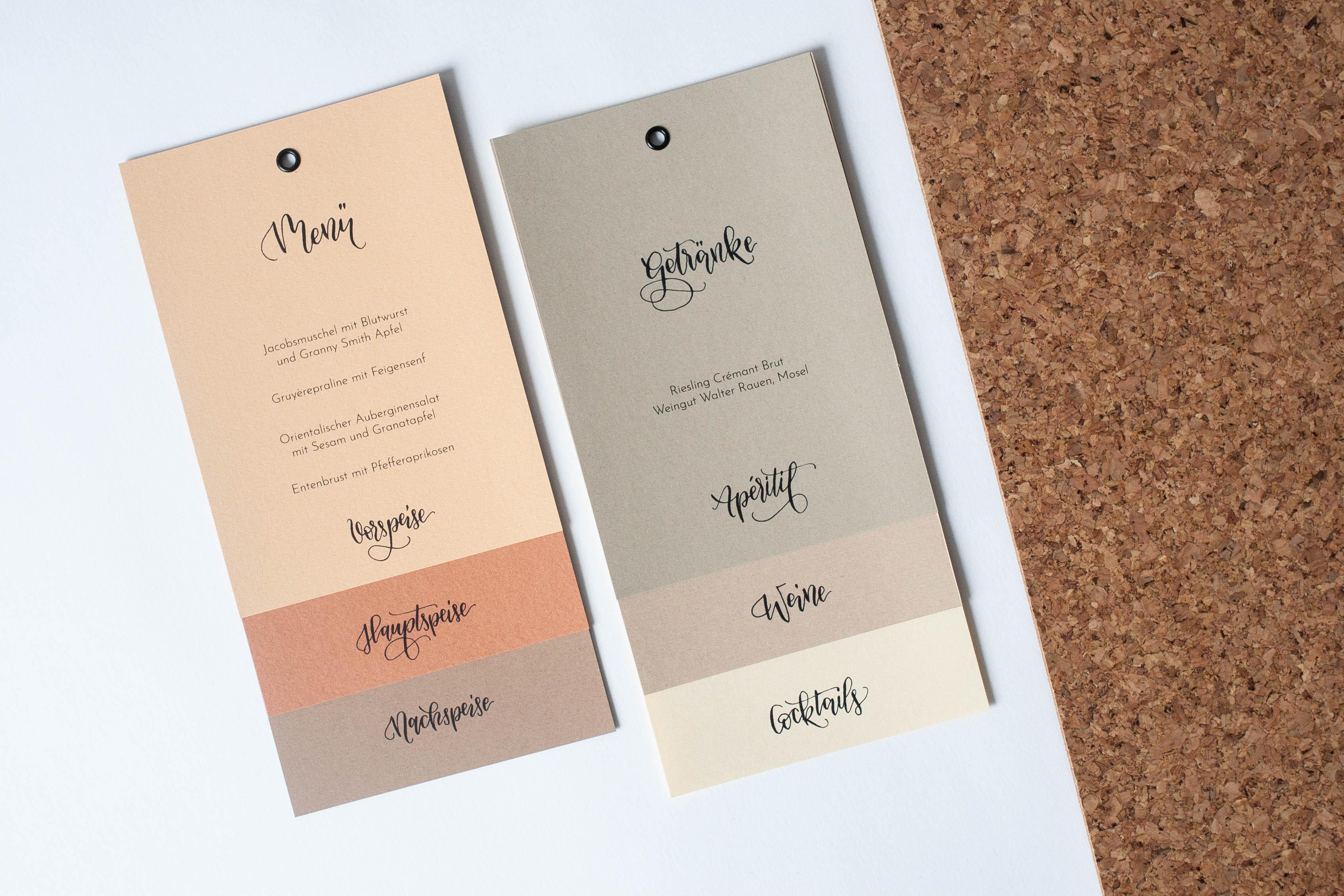 Hochzeitspapeterie selbst machen: besonderes Design
