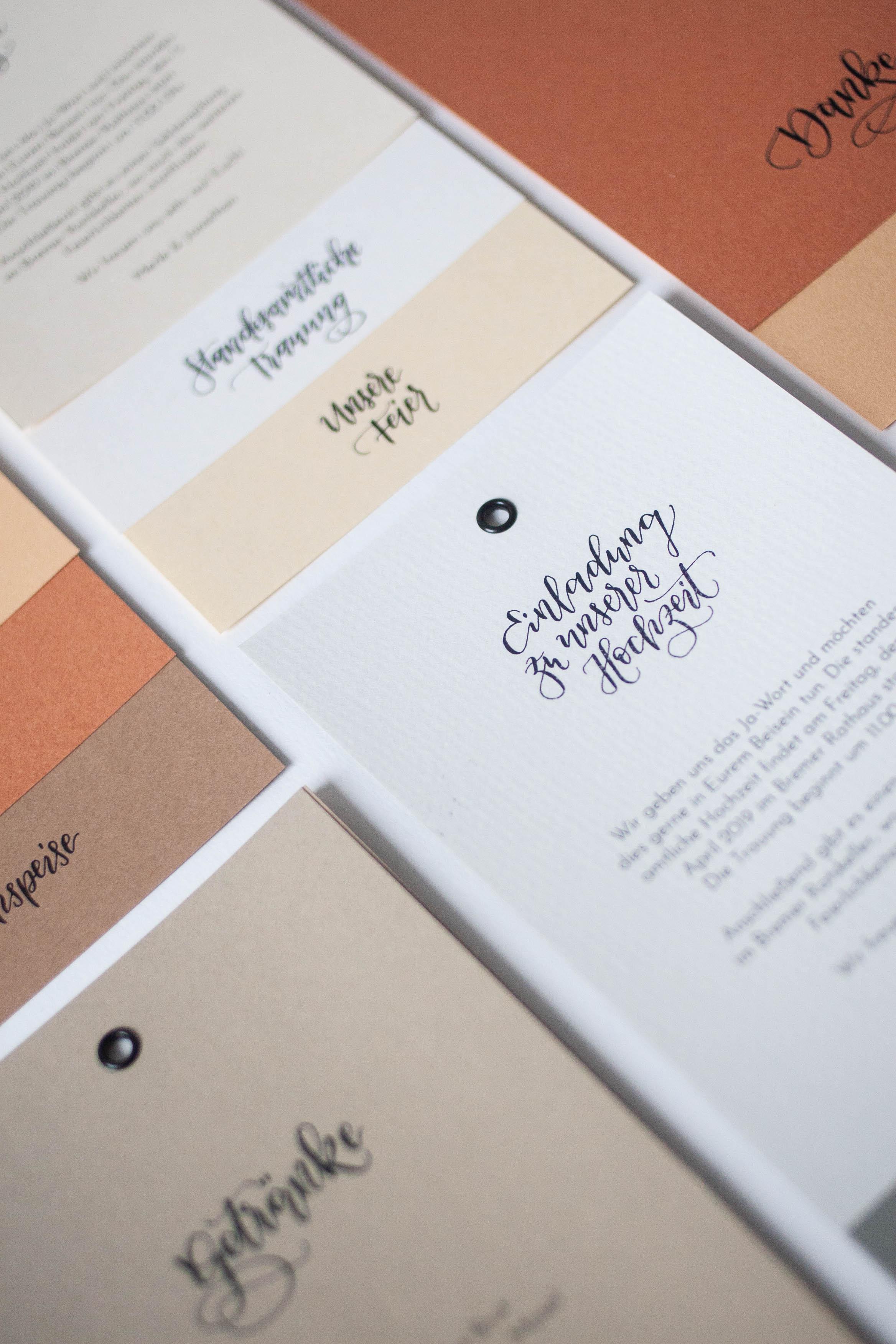 Hochzeitspapeterie selbst machen: Strukturiertes Papier
