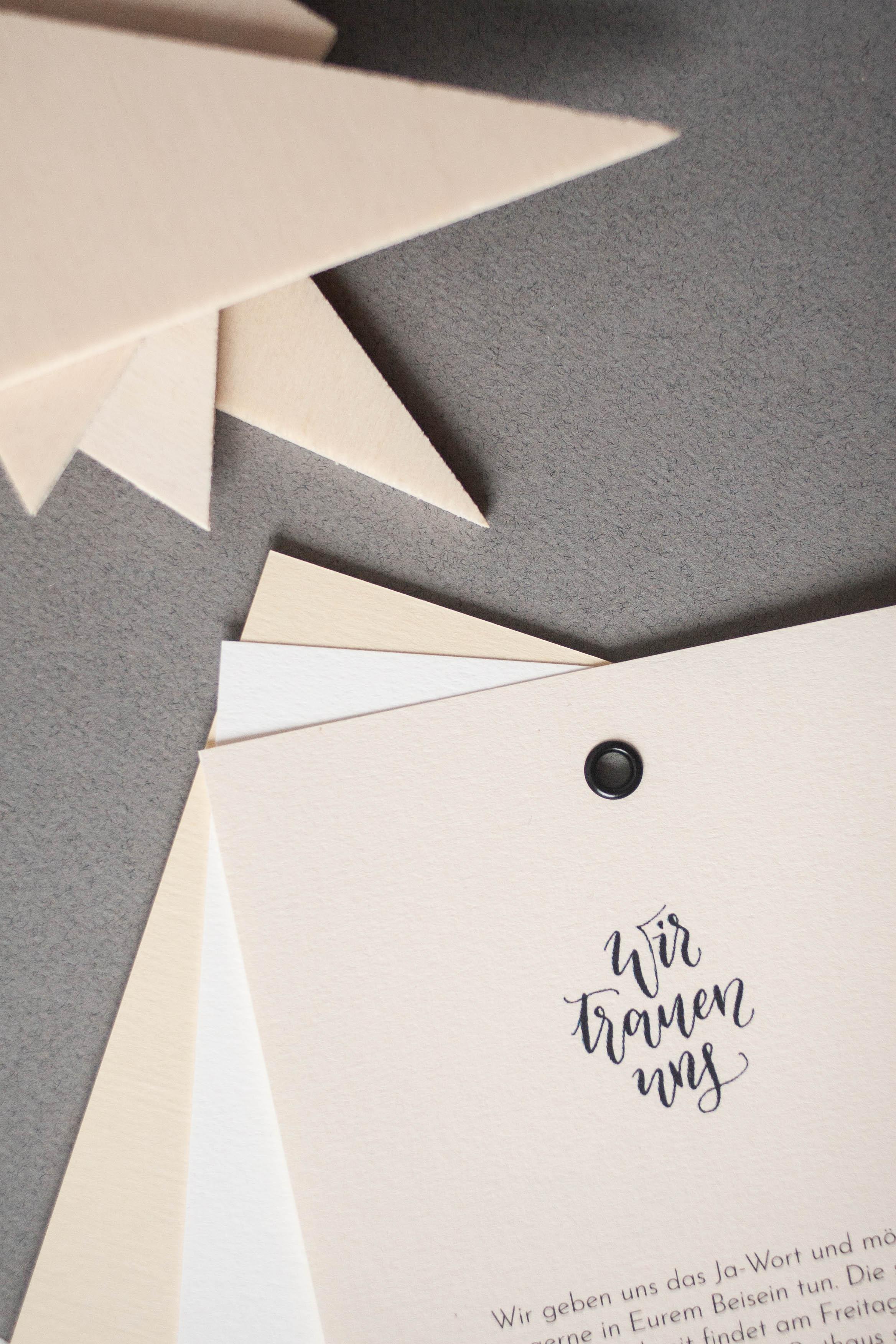 Hochzeitspapeterie selbst machen: wir trauen uns