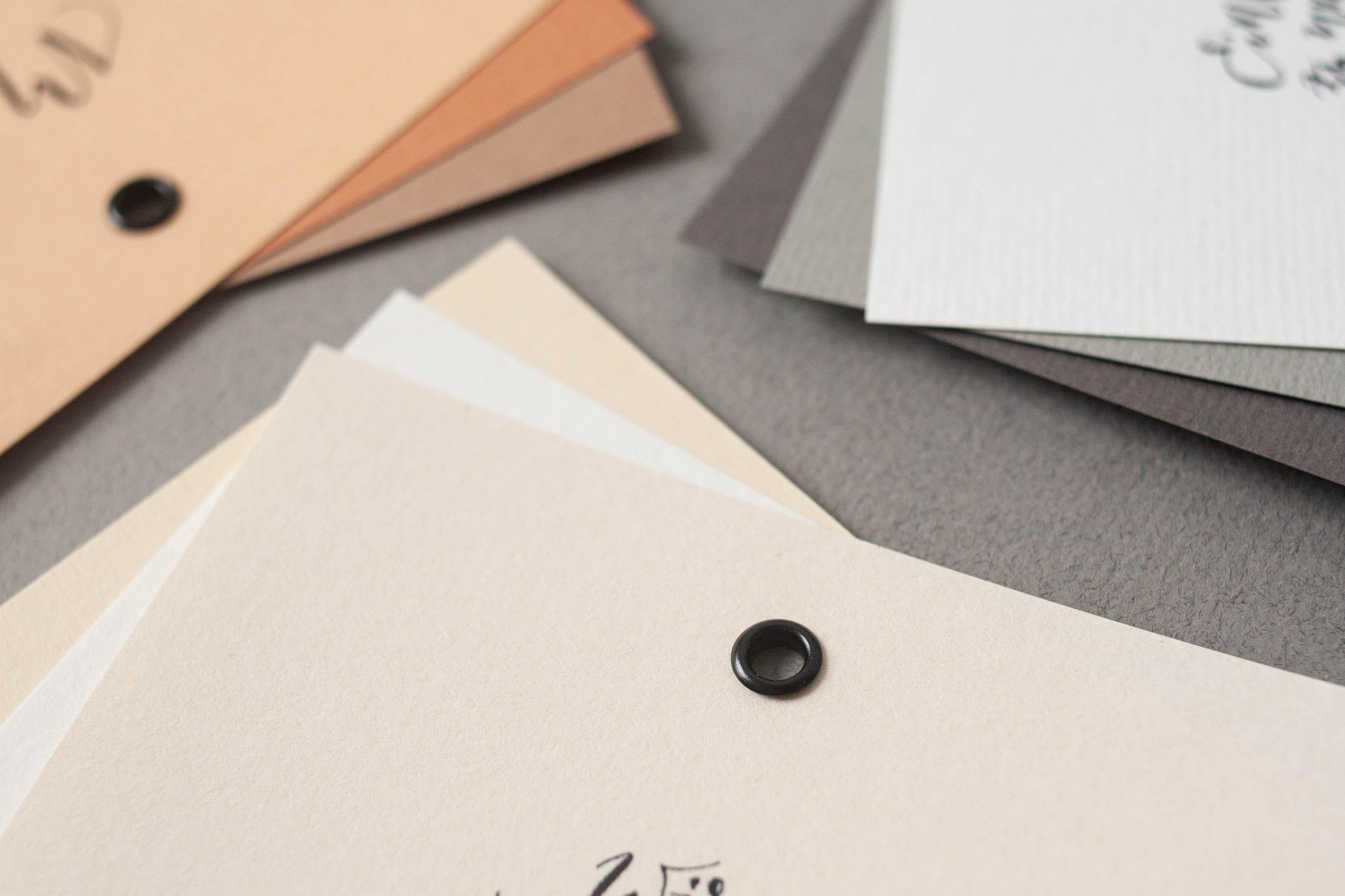 Hochzeitspapeterie selbst machen: die Papierwahl