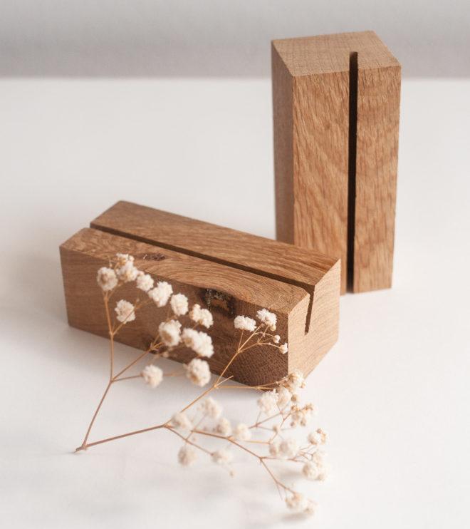 Schöne Menükartenhalter aus Holz
