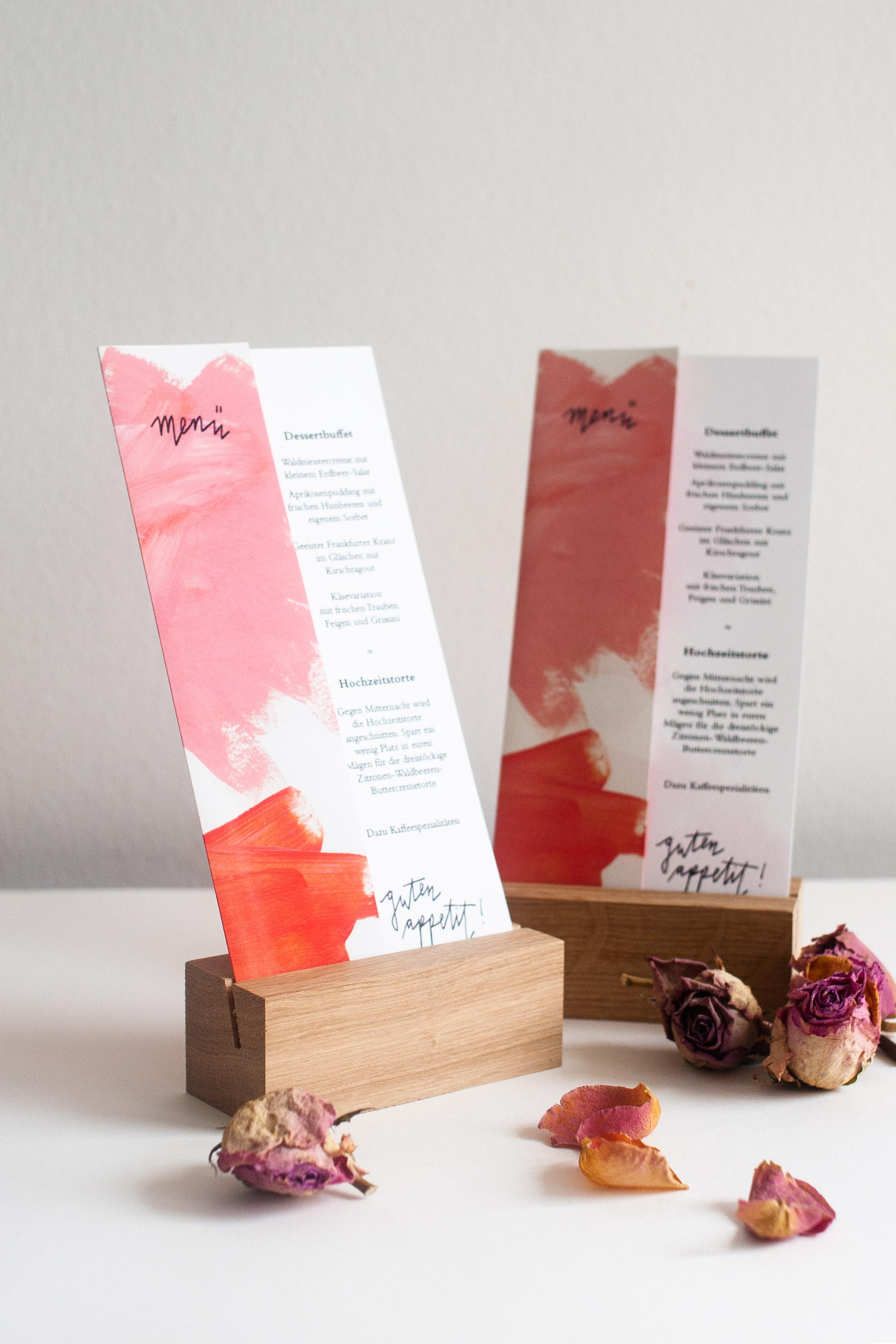 Moderne Tischdeko Für Die Hochzeit Aus Holz Platz Und