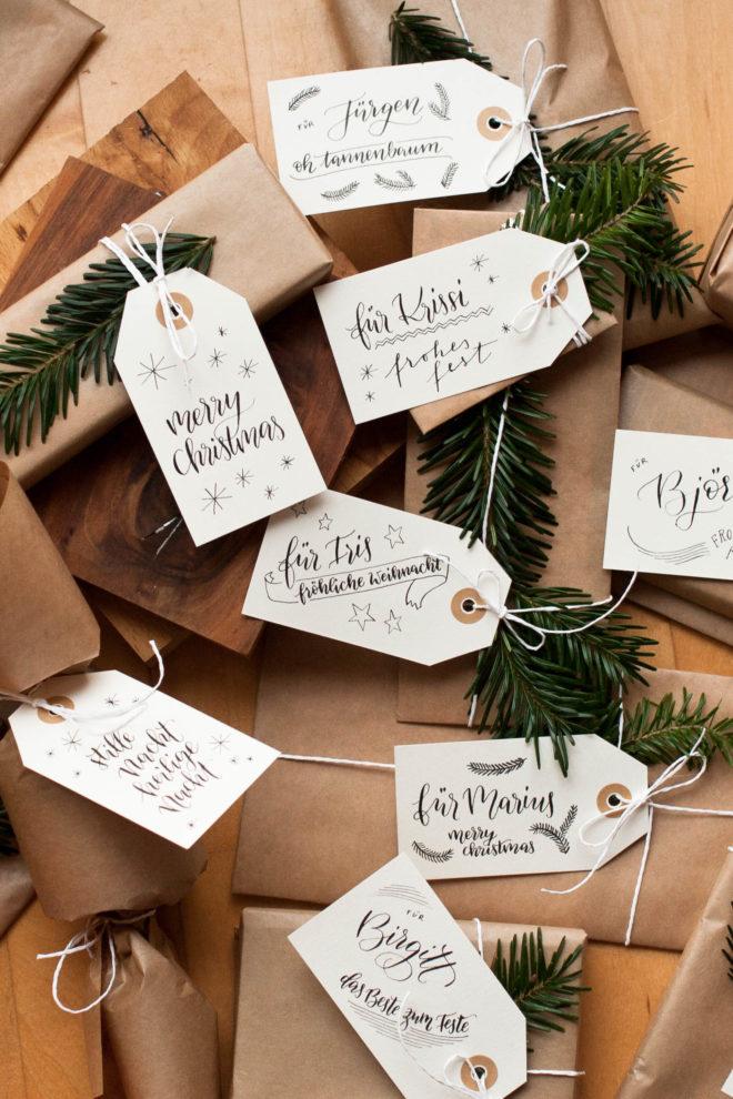 Weihnachtsgeschenke verpacken modern und kreativ