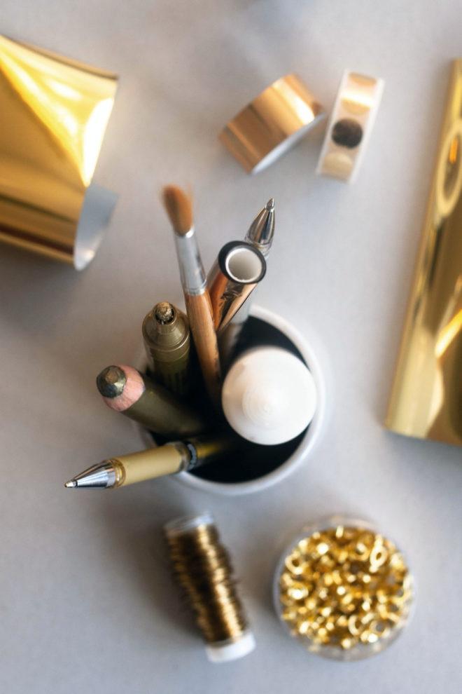 DIY Hochzeitsdeko mit Gold