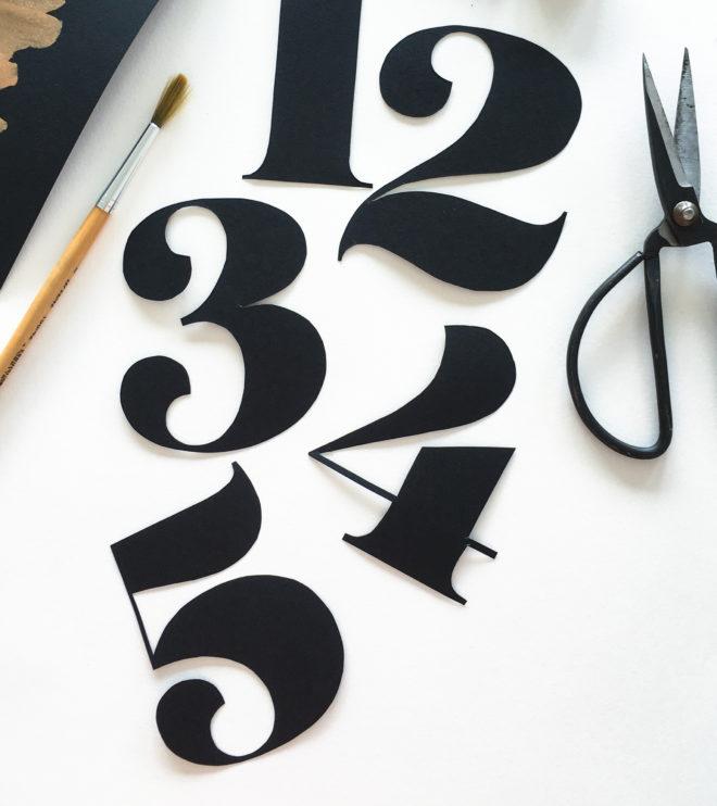 Tischnummern selber basteln