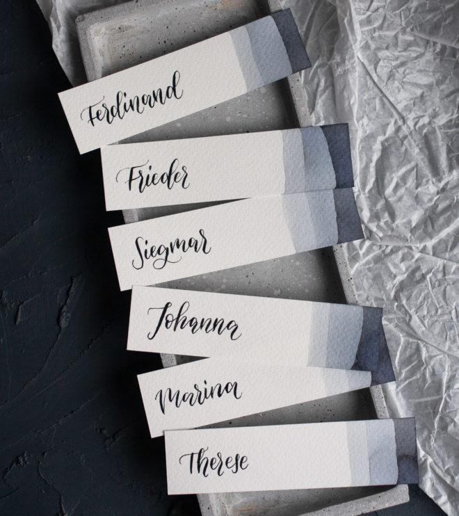 Namenskarten länglich Hochzeit