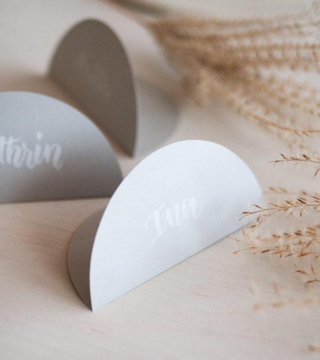 Namenskärtchen Hochzeit Tischdeko