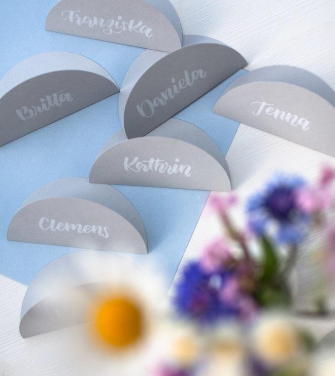 Namenskärtchen für die Hochzeit