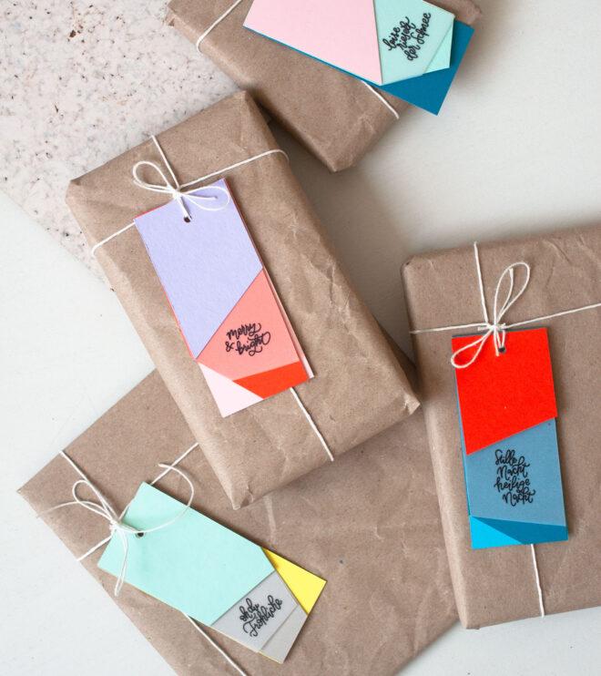 Anhänger für Weihnachten Geschenke schön verpacken
